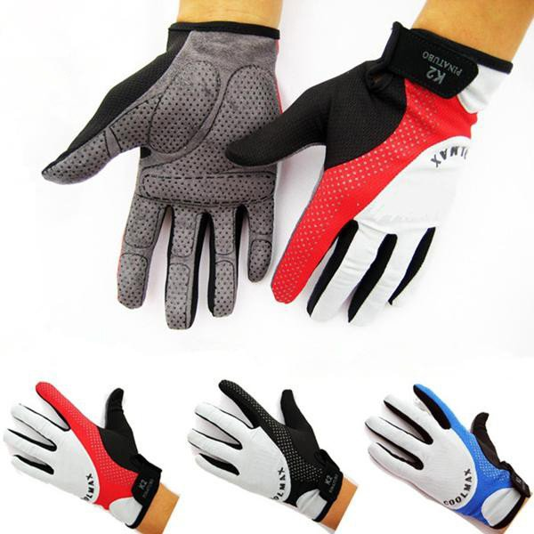 Cycling Bike Bicycle Sports Breathable Full Finger Gloves