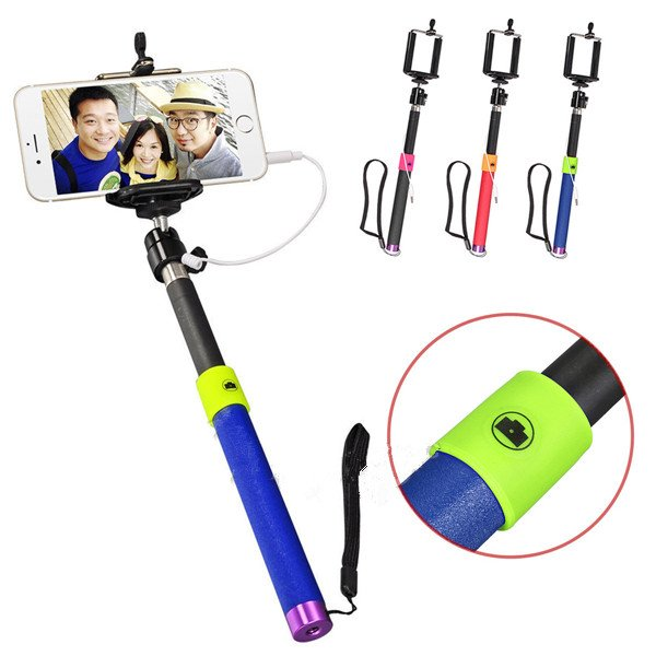 Extendable Shutter Handheld Selfie Stick Monopod For Cell Phone Samsung iPhone6