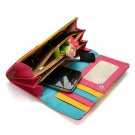 Candy Colors Lady Women Wallet PU Leather Purse Long Handbag Bag