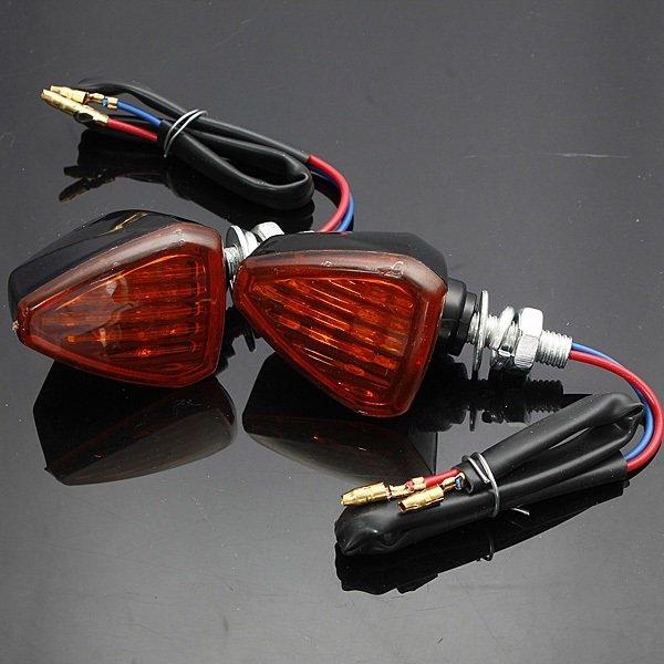 Motorcycle Motorbike Turn Signal Indicators Light Lamp Amber
