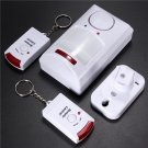 Wireless Motion Sensor Alarm IR Infrared Detector 2 Remote Control