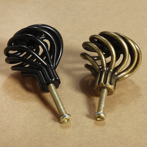 Cabinet Drawer Cupboard Birdcage Knob Door Spiral Pull Handle