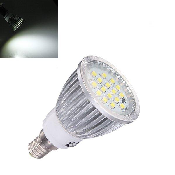 E14 6.5W Pure White 500lm SMD 5630 16 LED Spot Light Bulb 220V