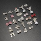 3D Silver Slice Glitter Rhinestone DIY Nail Art Tips Decoration