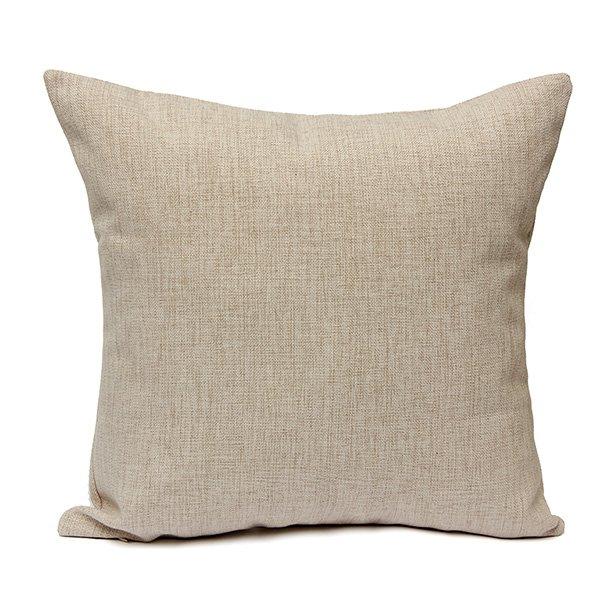 Merry Christmas Cotton Linen Pillowcase Christmas Decor Cushion Cover