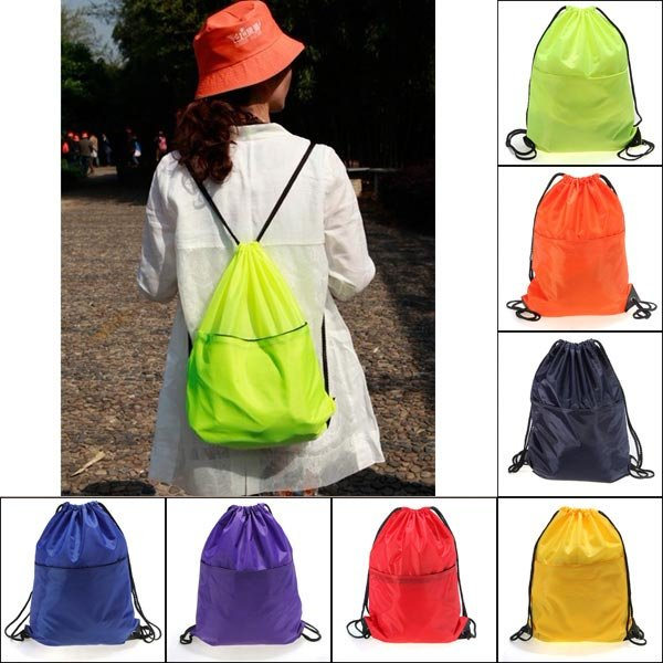 Gym Swim Dance Backpack Shoe Boot Drawstring Bag Sport Waterproof
