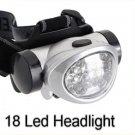 18 LED HeadLamp Head Light Torch Lamp Hiking Flashlight