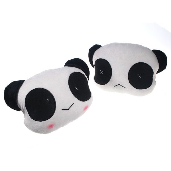 Panda Car Seat Plush  Cover Head  Neck Support Cushion Cotton Pillow