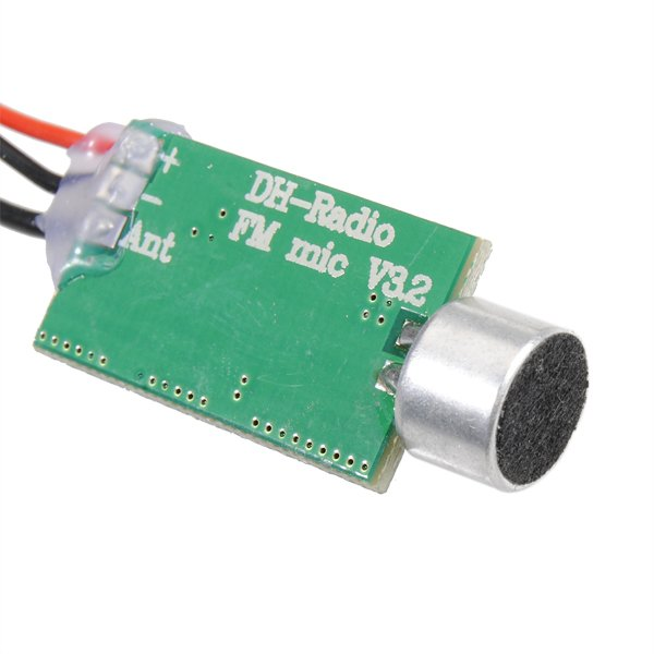 Mini FSN112 FM Transmitter Bug Wiretap Interceptor 60MHZ-128MHZ