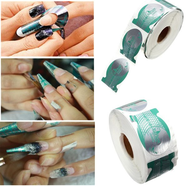 500pcs Professional Nail Art Tips Extension Forms Guide Stickers