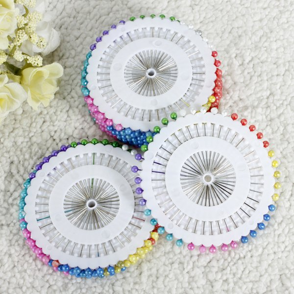 35mm 480Pcs Multicolor Round Head Sewing Pin