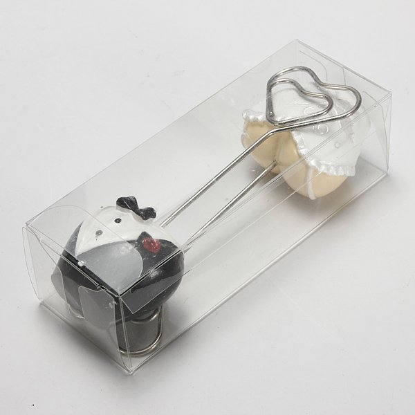 2PCS Wedding Reception Formal Gown Number Menu Table Clip Card Holder