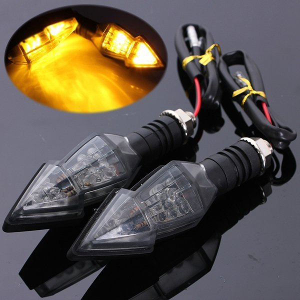 Universal Motorcycle 15SMD Turn Signal Indicator Amber Arrow Light