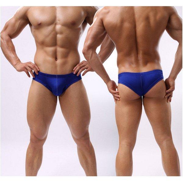 Mens Slim Fit Solid Color Briefs Underwear