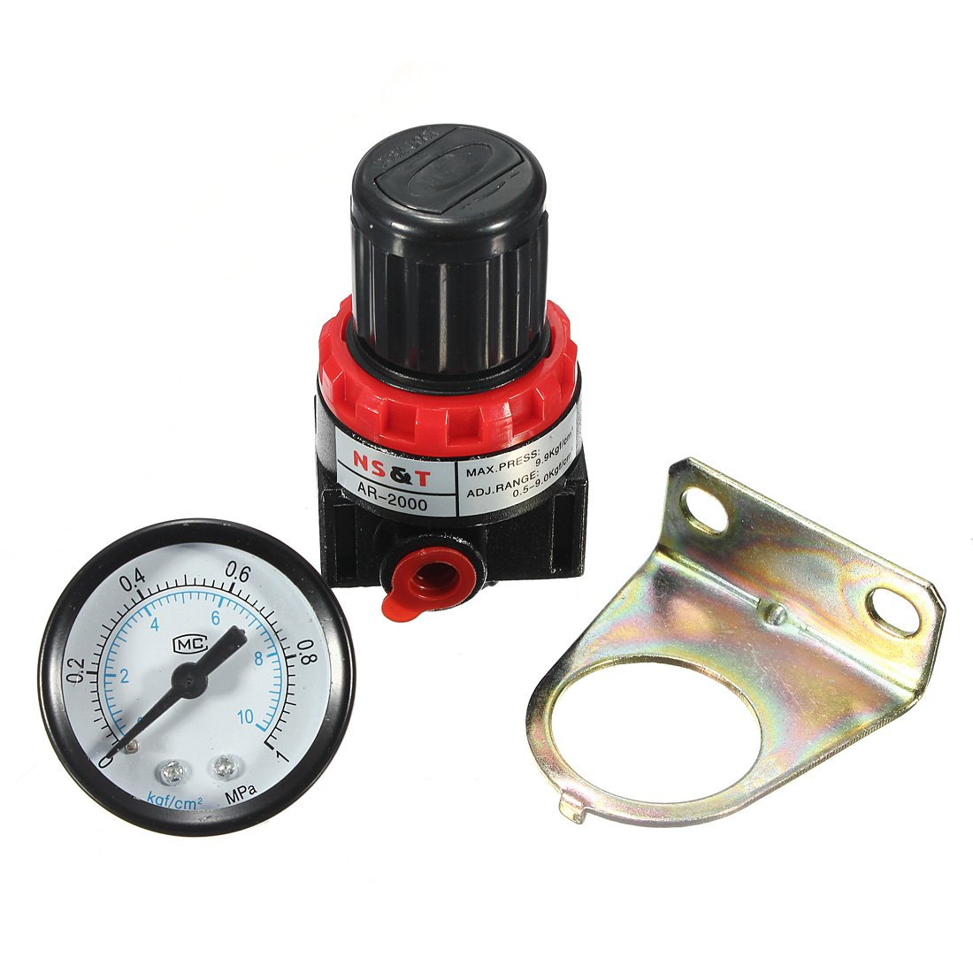 AR2000 Air Control Compressor Pressure Relief Regulator Valve Gauge