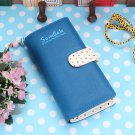 Women Long Wallet Lady Wave Point Zipper Bag Card Holder Clutch Purse