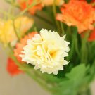 1 Bouquet Artificial Carnation Silk Flowers Home Decor