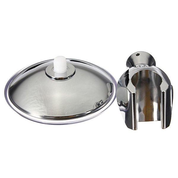 Adjustable Shower Head Chromed Holder Bathroom Suction Bracket
