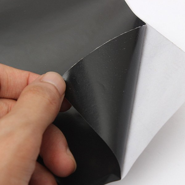 Black Glass Film Self Adhesive Sticky Plastic Vinyl Film 45x100cm