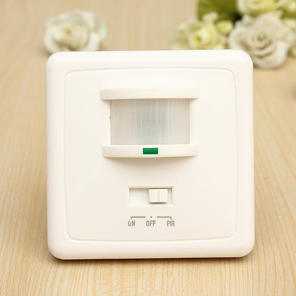 2 in 1 Auto On/Off Infrared PIR Occupancy Motion Sensor Switch
