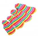 Strawberry Rainbow Pet Dog Hoodie Sweater Jacket Coat