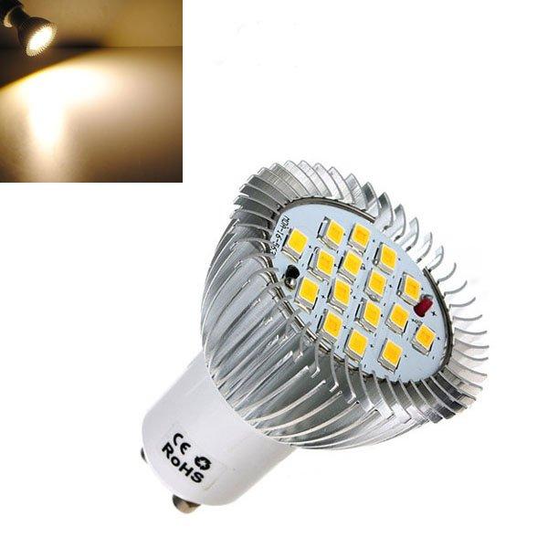 GU10 6.4W 16 SMD 5630 LED Warm White Energy Saving Spot Bulb 185-265V