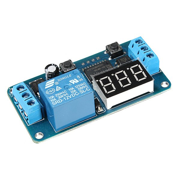 DC 12V LED Display Digital Delay Timer Control Switch Module PLC