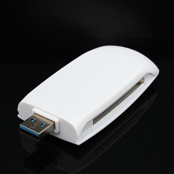 USB 3.0 Media Flash Memory Card Reader Writer Adapter For CF/SD