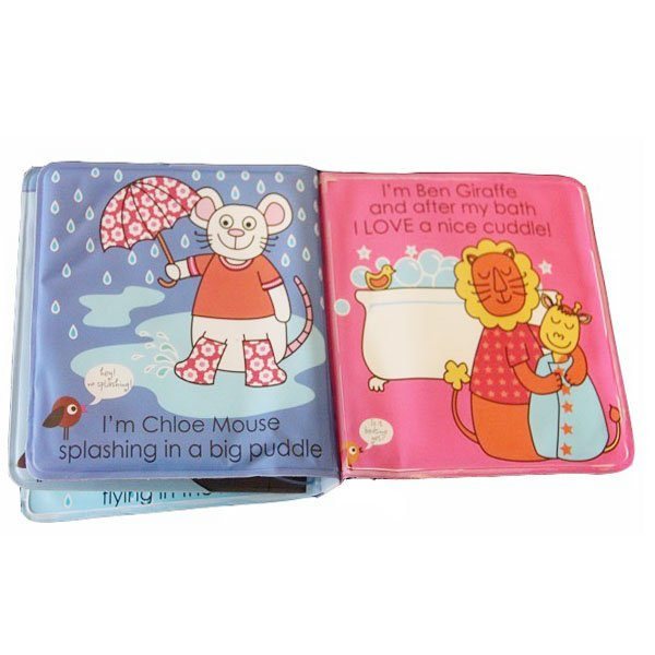 Baby Shower Bath Book Waterproof Story Book Educational Bath Toy