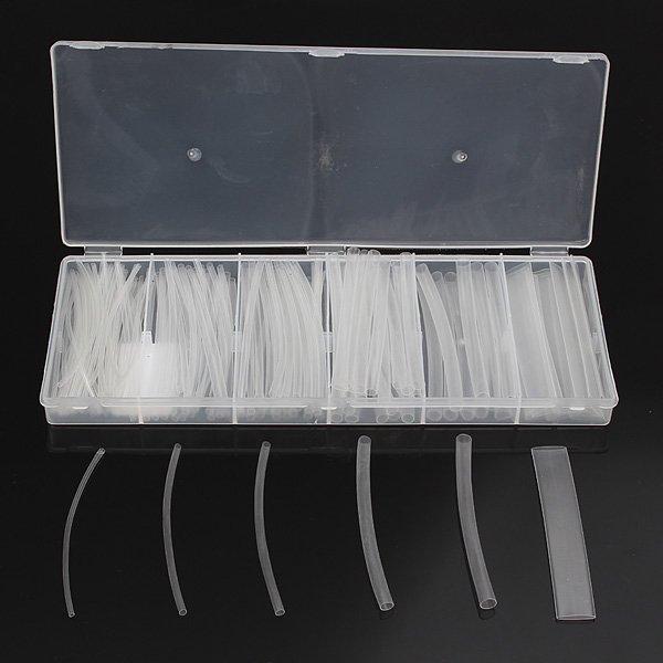 150Pcs Transparent 2:1 Polyolefin Heat Shrink Tubing Tube Sleeving