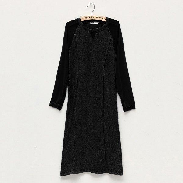 Women Sexy Plus Size Dress Mesh 3/4 Sleeve Slim Casual Mini Dress