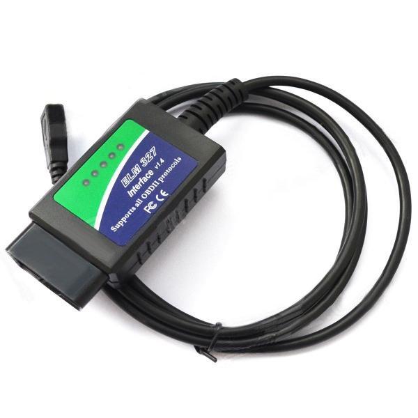 Car USB ELM327 OBD OBD2 Diagnostics Tool for Notebook and PC