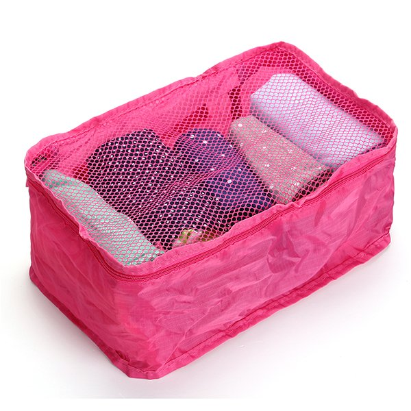 Portable Nylon Mesh Handbag Travel Pouch Organizer Bag Tidy Clothing