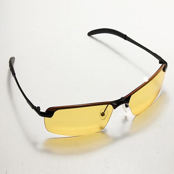 UV400 Mens Cycling Driving Polarized Night Vision Glasses Sunglasses