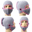 Hot New Winter Warm Roman Knight Soft Hat Gladiator Mask Knitting Cap