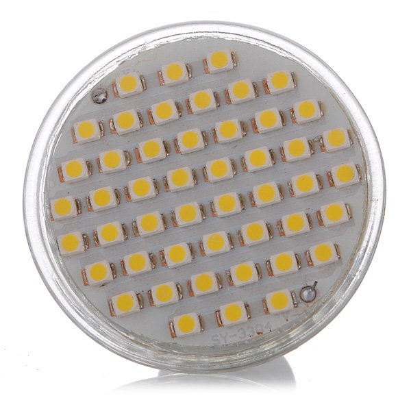 GU10 3W Warm White 48 SMD 3528 LED Spot Light Lamb Bulb 195-240V