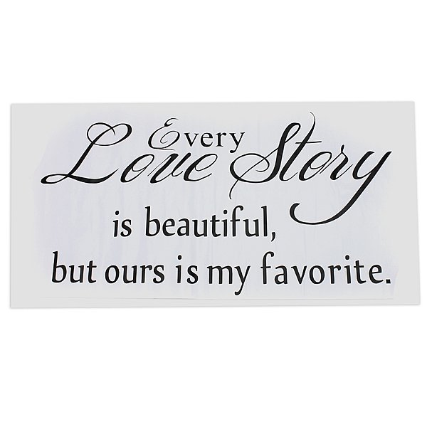 English Proverbs Wall Stickers Love Story  Wall Stickers