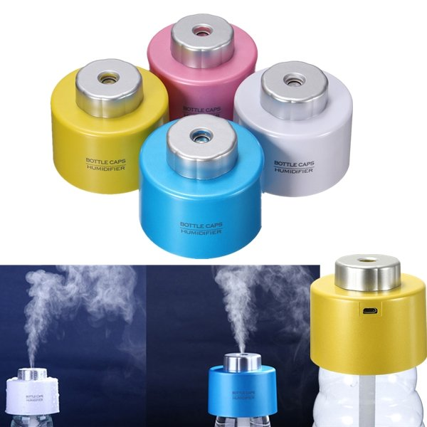 Mini Portable Bottle Cap Air Humidifier with USB Cable for Office Home