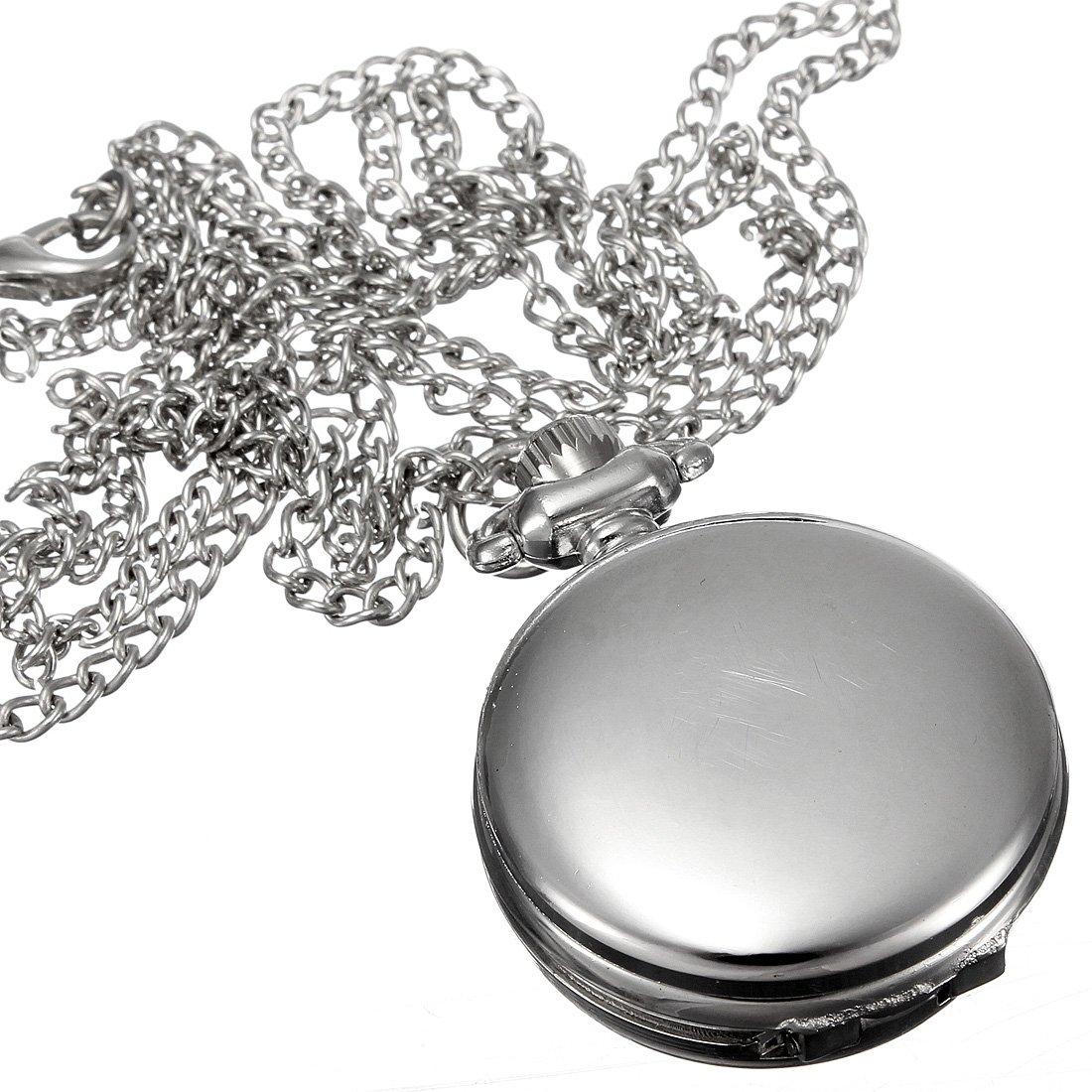 Vintage Birdcage Rose Necklace Quartz Pocket Watch