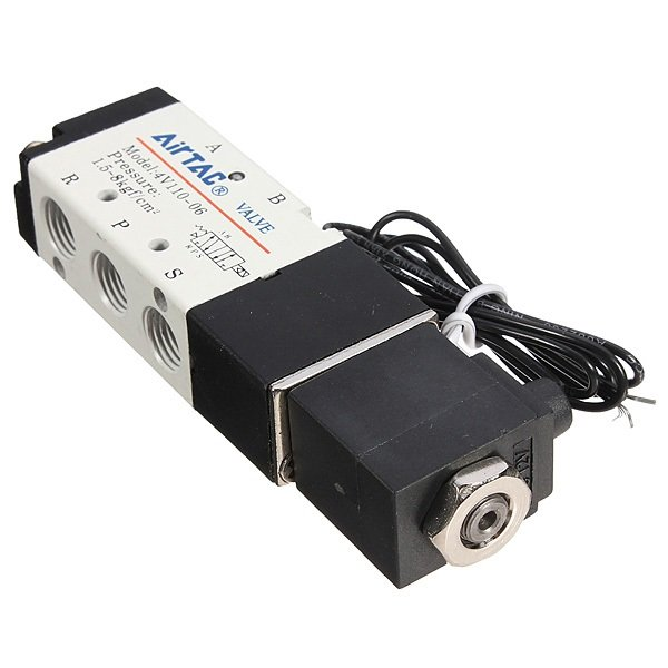 DC 12V 2.5W  Car Solenoid Air Valve 5 Port 2 Position