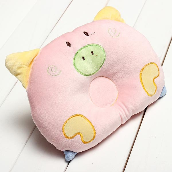 Newborn Baby Round Pillow Sleeping Support Prevent Flat Head Cushion