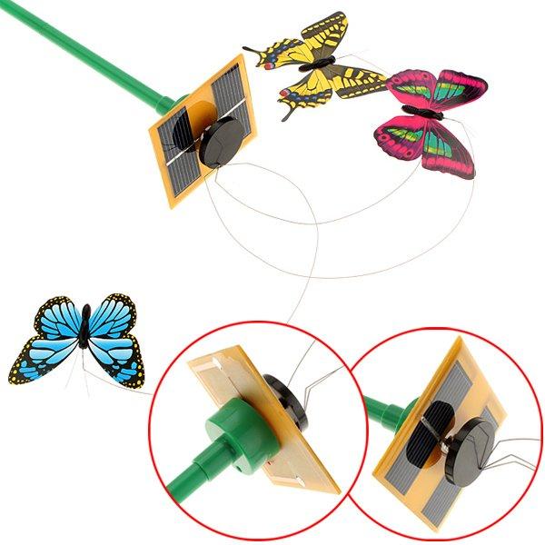 Solar Power Flying Color Butterfly Garden Yard Decoration 3 PCS/Set