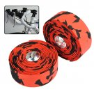 Bike Bicycle Cork Handlebar Tape Wrap +2 Bar Plug Red