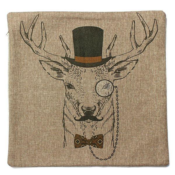 Classic Retro Deer Series Pillow Case Sofa Decor Cushion Cover