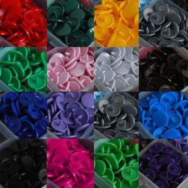 150Pcs Resin Snap Buttons 15 Colors