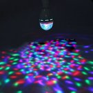 E27 3W Colorful Rotating RGB Spot Light Bulb For Party Disco Stage