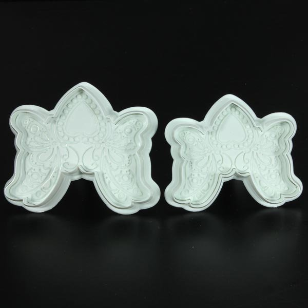 Sweet Heart Butterfly Lace Fondant Cake Cookies Plunger Cutter Mold