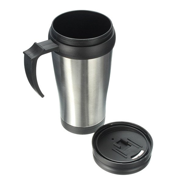 Stainless Steel Thermos ABS Mug Travel Car Coffee Tumbler Tea Cup
