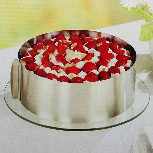 6 to12Inch Stainless Steel Adjustable Mousse Cake Ring Baking Mold