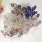 20PCS Flowers Crystal Alloy Hair Pins Wedding Hair Accessories